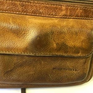 Fossil Bags - Fossil Brown Leather Crossbody Purse Bag